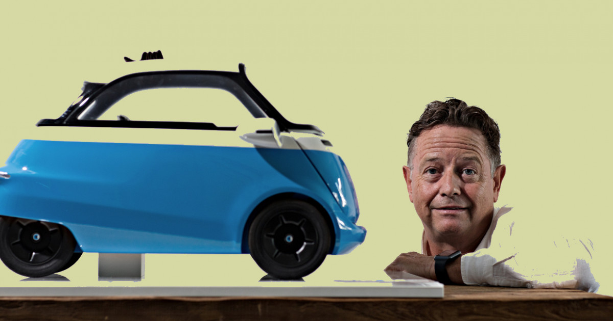 Micro Scooter Inventor Wim Ouboter With His Microlino Car