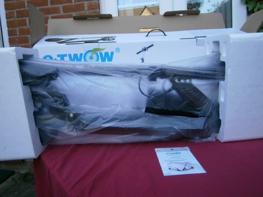 e-Twow S2 Electric Scooter Packaging In This Review