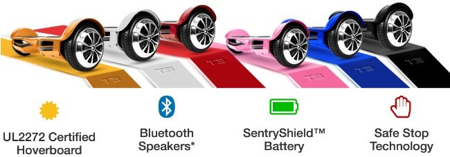 Swagtron T3 Bluetooth Hoverboard All Available Colors