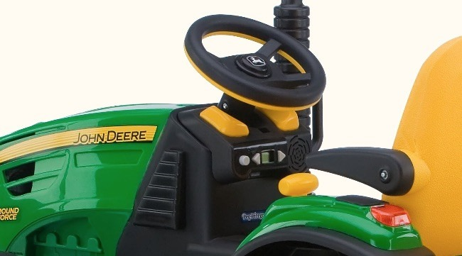 Buy the Best Kids 12v Electric Tractor Dash Detail By Peg Perego