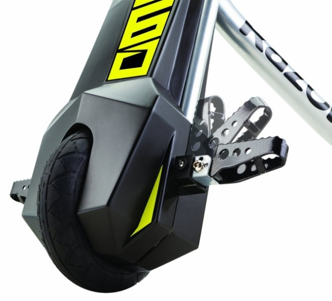 The Razor Power Rider 360 Front Wheel and Foot Pegs