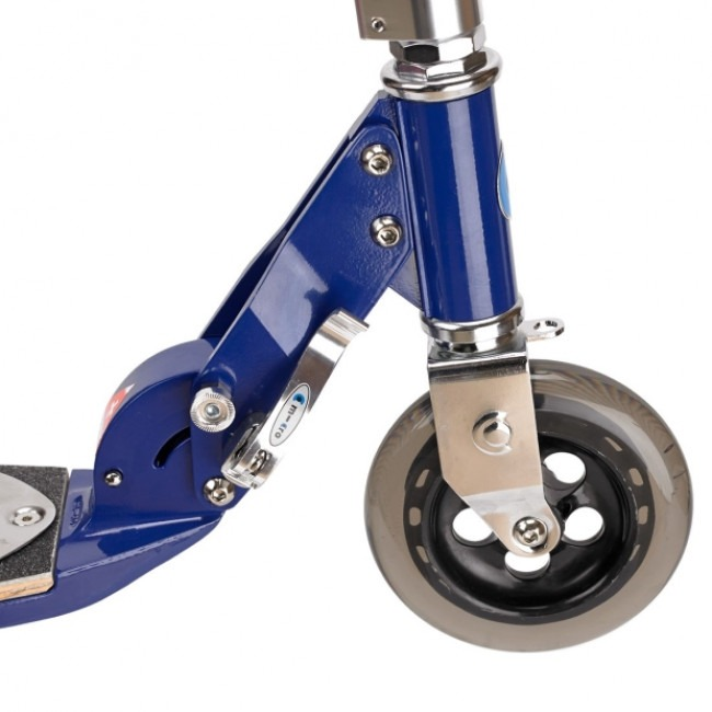 Front Wheel and Folding Assenbly of The Micro Flex Blue 200mm