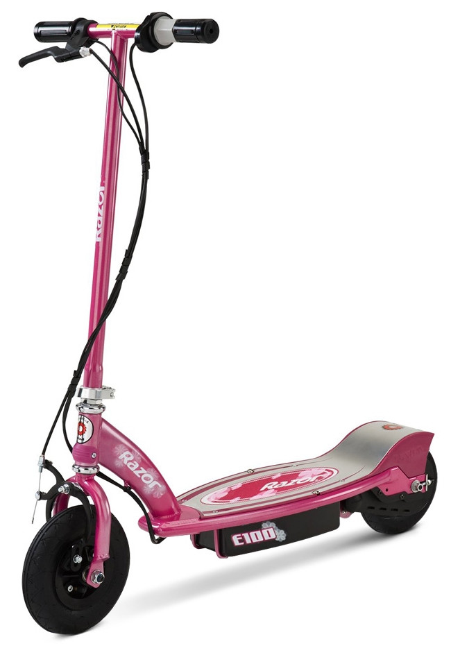 The E100 Top Most Popular Electric Scooter For Kids Available In Pink