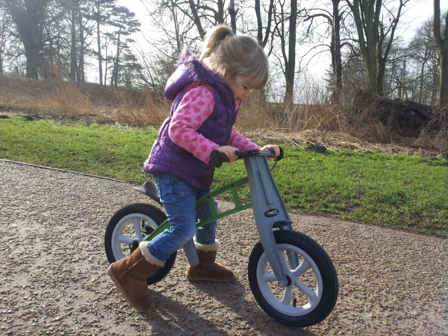 FirstBike Review By Toddler Lily In Action