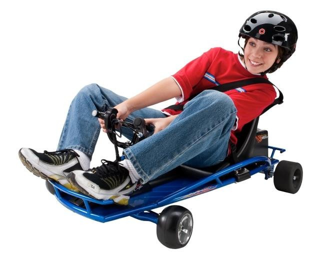 Kids Love Drifitng and Sliding on the Razor Ground Force Drifter Electric Kart