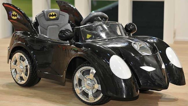 Batmobile Electric Ride On Car 6v Wooden Floor