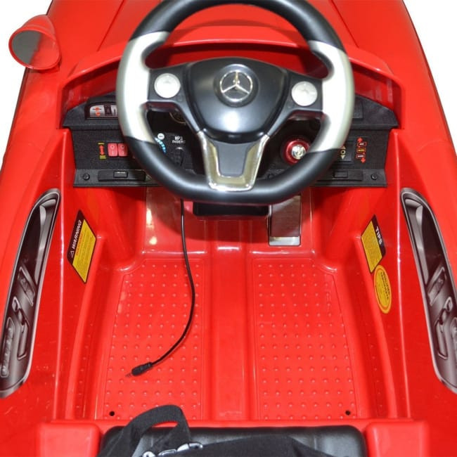 Interior View Of The Classic Kids Mercedes SL300 Electric Ride-On Car From Giantex